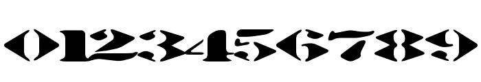 Stenciltration Font OTHER CHARS