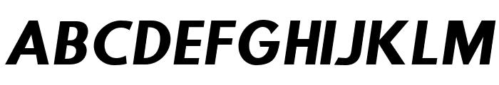 Step Down Oblique Font UPPERCASE