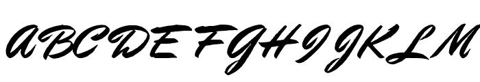 Stephens Heavy Writing Font UPPERCASE