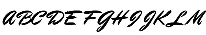 StephensHeavyWriting Font UPPERCASE