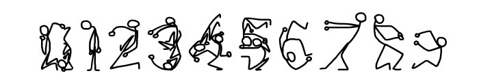 Stick Figures Font OTHER CHARS