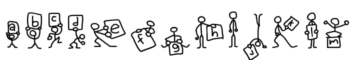 Stick Figures Font LOWERCASE