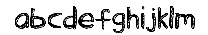 Stick Tickle Font LOWERCASE
