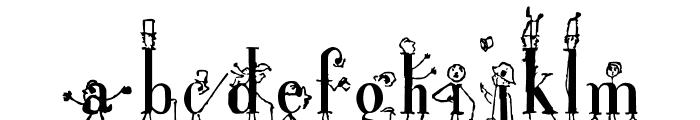 StickLetter Font LOWERCASE