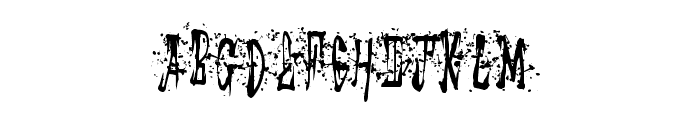 StickyMad Font LOWERCASE