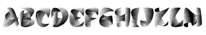 Stiletto Silver Font UPPERCASE