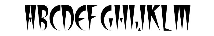 Stiletto Font UPPERCASE