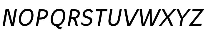 Stilu Italic Font UPPERCASE