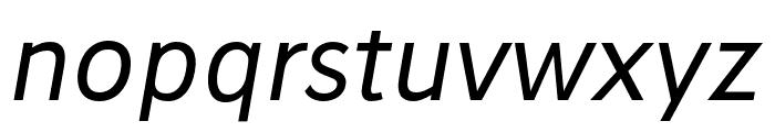 Stilu Italic Font LOWERCASE