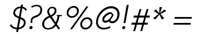 Stilu Light Italic Font OTHER CHARS