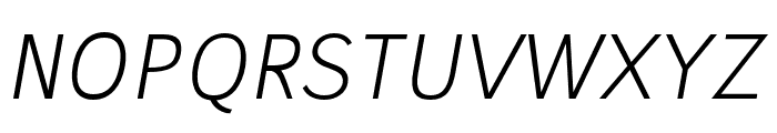 Stilu Light Italic Font UPPERCASE