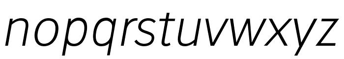 Stilu Light Italic Font LOWERCASE