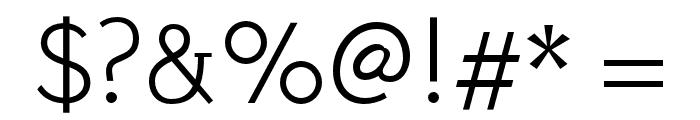 Stilu-Light Font OTHER CHARS