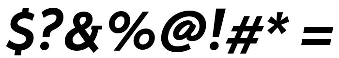 Stilu SemiBold Italic Font OTHER CHARS
