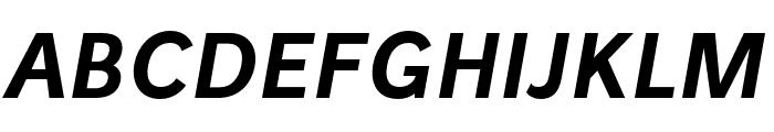 Stilu SemiBold Italic Font UPPERCASE