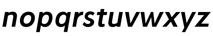 Stilu SemiBold Italic Font LOWERCASE