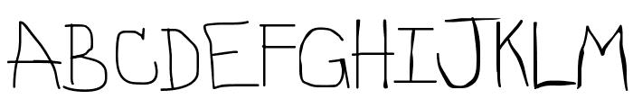 Stinky Font UPPERCASE