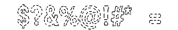 Stitch & Bitch Font OTHER CHARS
