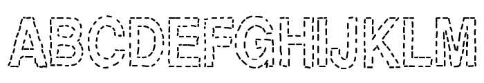 Stitch & Bitch Font UPPERCASE