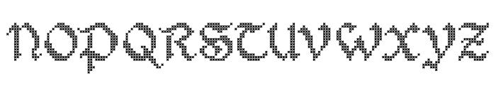 Stitch Warrior Font UPPERCASE