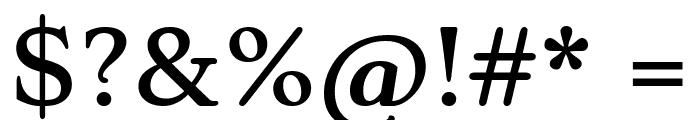 Stoke Regular Font OTHER CHARS