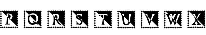 StonageStamp Normal Font UPPERCASE