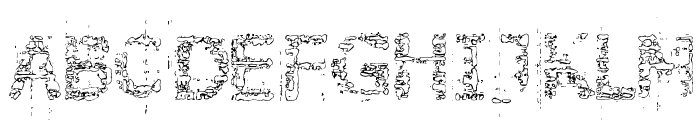 Stone Edge Font LOWERCASE
