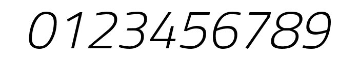 Storia Sans ExtraLight Italic Font OTHER CHARS