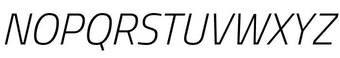 Storia Sans ExtraLight Italic Font UPPERCASE