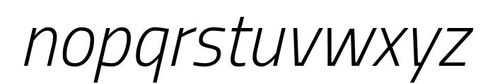 Storia Sans ExtraLight Italic Font LOWERCASE