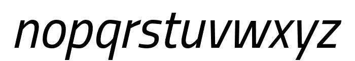 Storia Sans Italic Font LOWERCASE