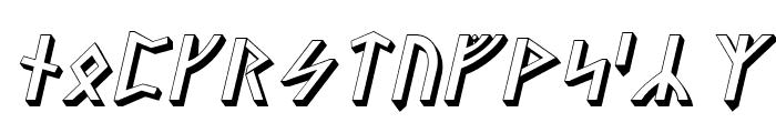Stormning Asgard Oblique Font LOWERCASE