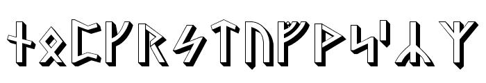 Stormning Asgard Font UPPERCASE