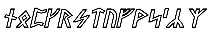 Stormning Odin Oblique Font UPPERCASE