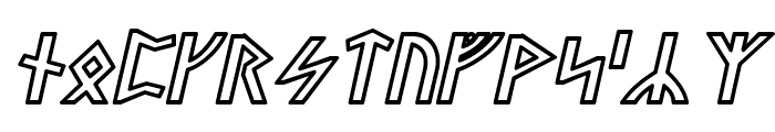Stormning Odin Oblique Font LOWERCASE