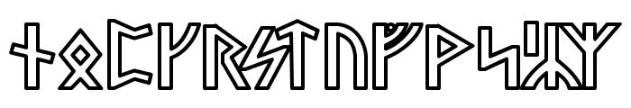 Stormning Odin Font UPPERCASE