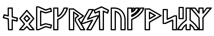 Stormning Odin Font LOWERCASE