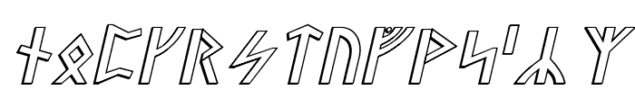 Stormning Raw Outline Oblique Font LOWERCASE