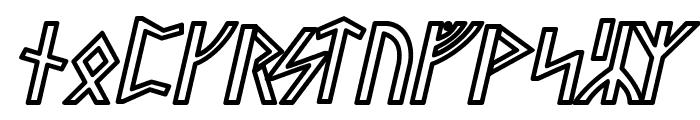 Stormning Sif Oblique Font UPPERCASE