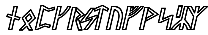 Stormning Sif Oblique Font LOWERCASE
