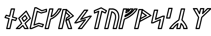 Stormning Thor Oblique Font LOWERCASE