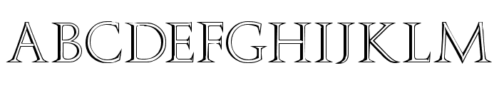 Stowe Open Face Font UPPERCASE