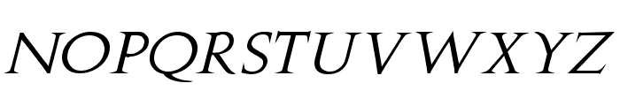 Stowe Titling Italic Font LOWERCASE