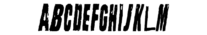 Straight Face Font UPPERCASE