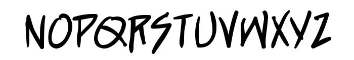 StraightJacketBB Font LOWERCASE
