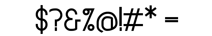Straightforward Regular Font OTHER CHARS