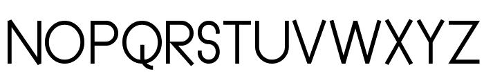 Straightforward Regular Font UPPERCASE