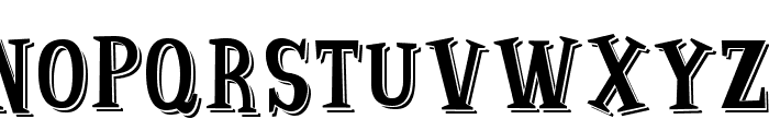 Strange Shadow Font UPPERCASE