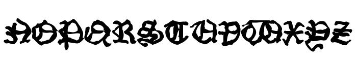 StrangeBlackLetter Font UPPERCASE