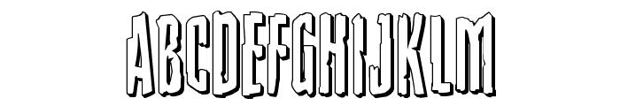 Stranger Danger 3D Font LOWERCASE
